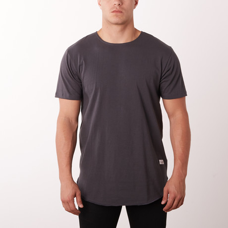 Essentials Wide Crew Fashion Tee // Charcoal (M)