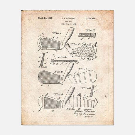 "Golf Faces Patent Print // PP0004 (11""W x 14""H)"