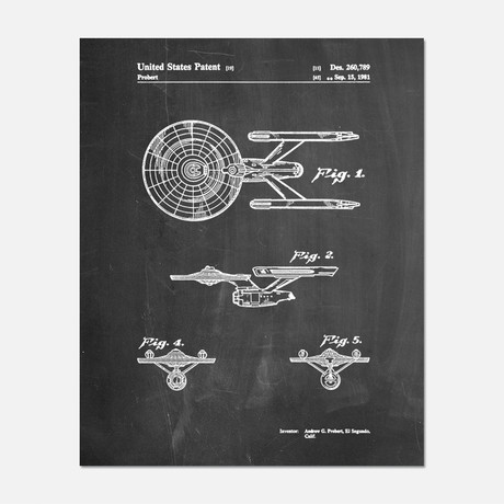 "Star Trek Enterprise Patent Print // PP0056 (11""W x 14""H)"