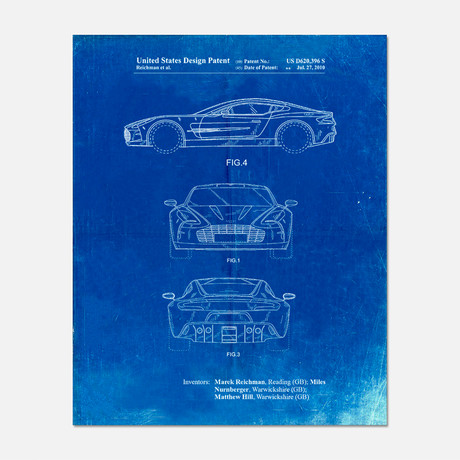 "Sports Car Patent Print // PP0711 (11""W x 14""H)"