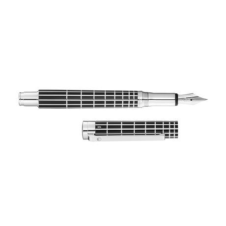 Xetra Patter // Black Lacquer (Steel Nib Fine)
