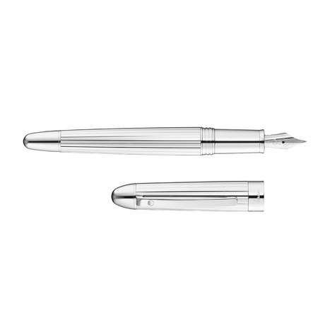 Sterling Silver Deep Wide Lines Pattern (Steel Nib Fine)