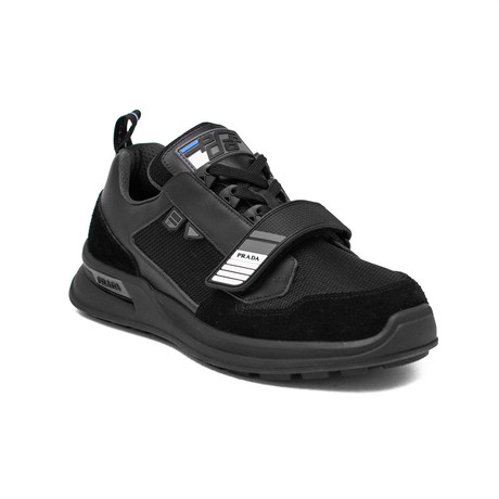 Prada // Men's Knit Fabric Sneaker Shoes // Black (US: 7)