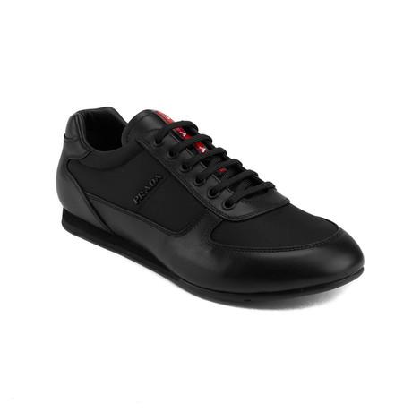 Prada // Leather Low-Top Sneaker Shoes // Black (US: 7)
