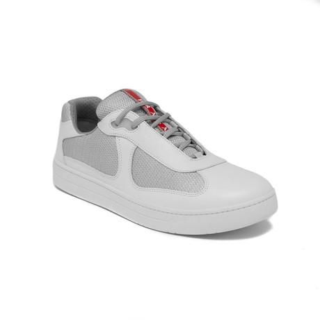 Prada // Men's Leather Mesh Sneaker Shoes // White (US 8)