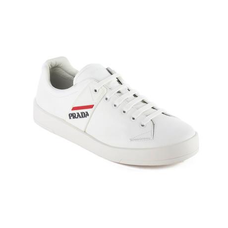 Prada // Men's Leather Sneaker Shoes // White (US: 6)