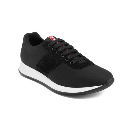 Prada // Suede Nylon Low-Top Sneaker Shoes // Black (US: 7)