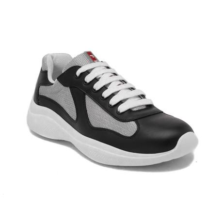 Prada // Leather Mesh Sneaker Shoes // Black (US: 7)