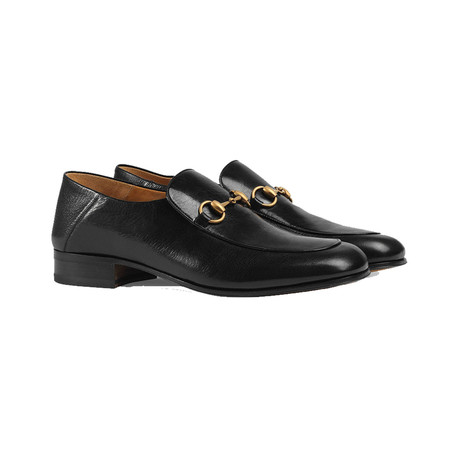 Gucci // Leather Horsebit Loafer Shoes // Black (US 8)