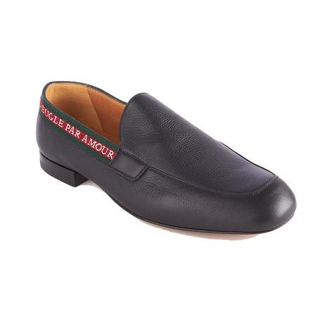 Gucci // Men's Leather L'Aveugle Par Amour Loafers // Black (US 6)