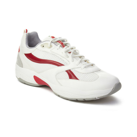 Prada // Men's Leather Low-Top Sneaker Shoes // White (US: 9)