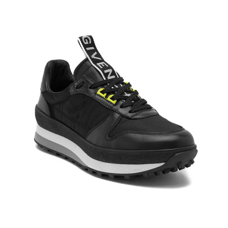 Givenchy // Leather TR3 Running Sneakers // Black (US 7)