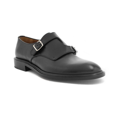 Givenchy // Leather Double Monk Strap Dress Shoes // Black (US: 8)