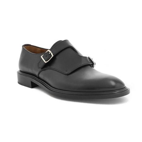 Givenchy // Men's Leather Double Monk strap Dress Shoes // Black (US 8)