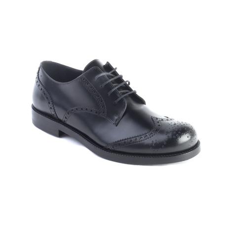 Valentino // Leather Brogue Oxford Dress Shoes // Black (US 6)