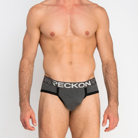 Briefs // Heather Charcoal Gray + Black (S)