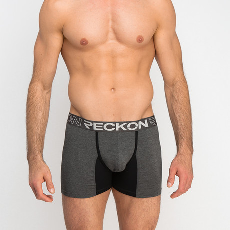 Boxer Briefs // Heather Charcoal Gray + Black (S)