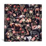 "Animals And Floral Pattern // Burcu Korkmazyurek (18""W x 18""H x 0.75""D)"