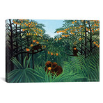 "Monkeys In The Jungle, 1910 // Henri Rousseau (26""W x 18""H x 0.75""D)"