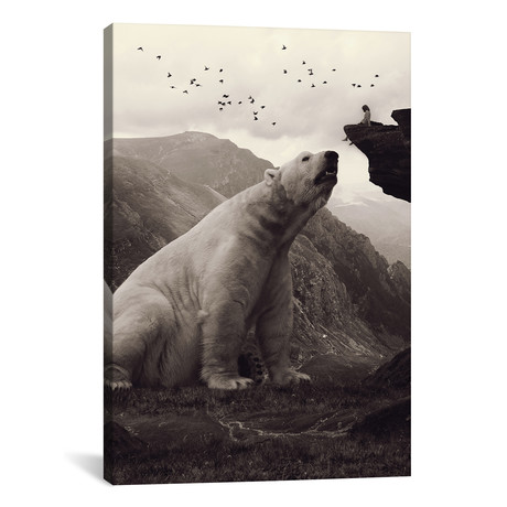 "Tutelary, Polar Bear // Soaring Anchor Designs (18""W x 26""H x 0.75""D)"