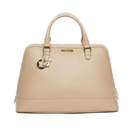 Top Handle Satchel Handbag // Beige