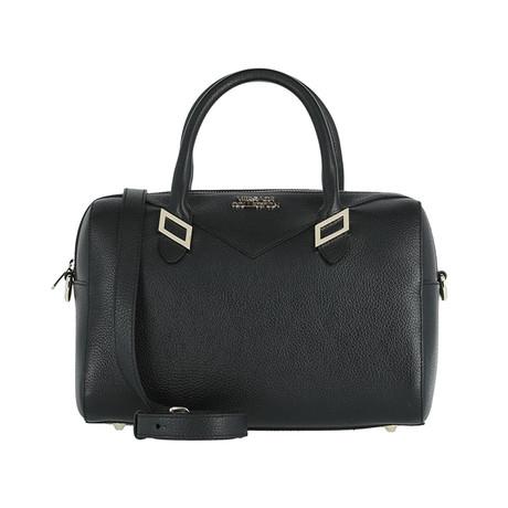 Versace // Boxed Shoulder Handbag // Black