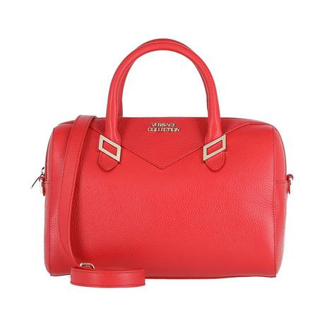 Boxed Shoulder Handbag // Red