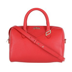 Boxed Shoulder Handbag // Red