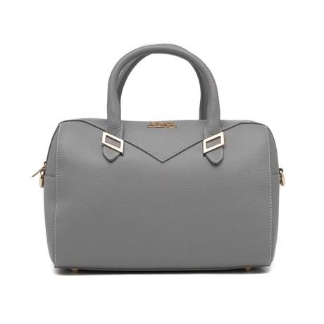 Versace // Boxed Shoulder Handbag // Gray