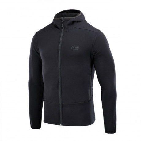 Poly Blend Hooded Zip Jacket // Black (XS)