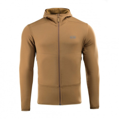 Poly Blend Hooded Zip Jacket // Brown (XS)