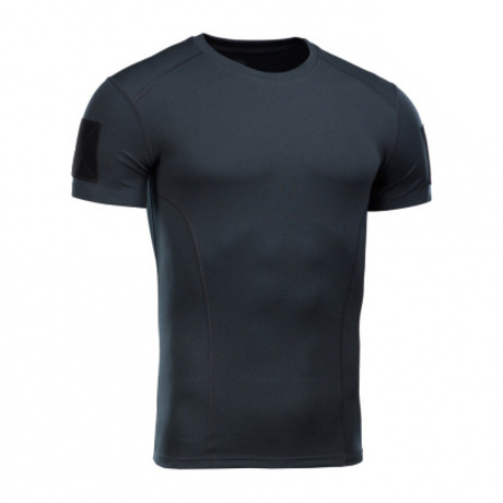 Arm Patch Solid T-shirt  // Navy (XS)