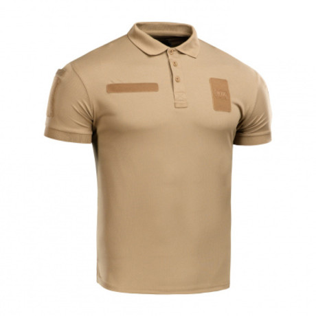Poly Blend Patch Polo // Light Brown (XS)