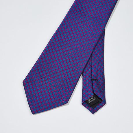 Woven Pattern Silk Tie // Blue + Purple