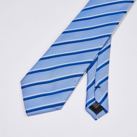 Striped Silk Tie // Blue + Light Blue