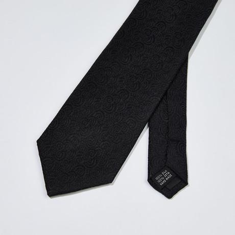 Textured Silk Tie // Black