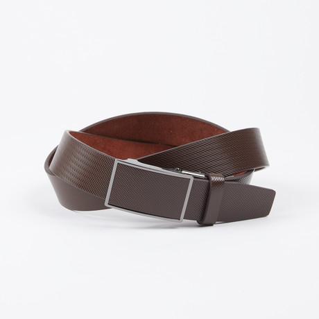 Myles Adjustable Belt // Brown