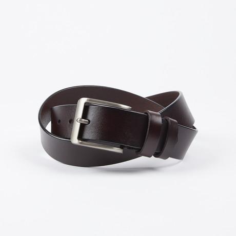 Man Adjustable Belt // Brown