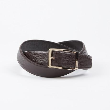 Francis Adjustable Belt // Brown