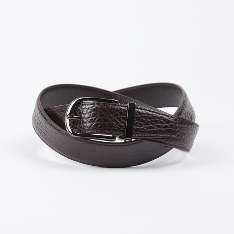Nathanael Adjustable Belt // Brown