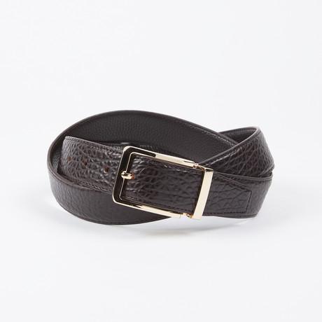 Frankie Adjustable Belt // Brown