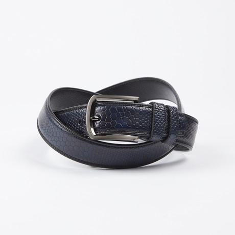 Dominique Adjustable Belt // Blue