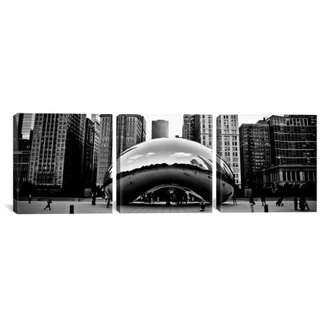 "Chicago Panoramic Skyline Cityscape // Bean (36""W x 12""H x 0.75""D)"