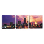 "Cleveland Panoramic Skyline Cityscape // Sunset (36""W x 12""H x 0.75""D)"