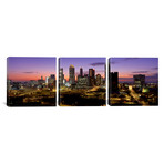 "Skyline At Dusk // Atlanta (36""W x 12""H x 0.75""D)"