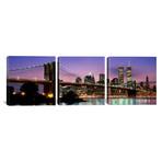 """Brooklyn Bridge // New York, NY (36""""W x 12""""H x 0.75""""D)"""