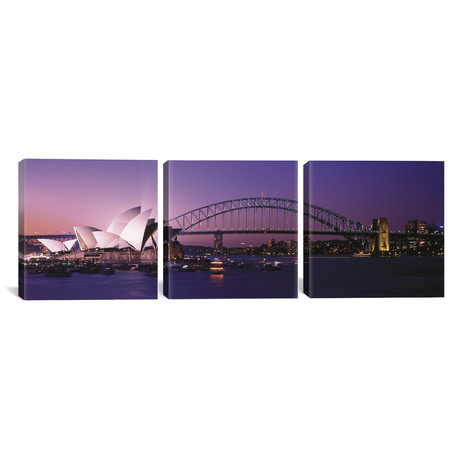 "Opera House Harbour Bridge // Sydney, Australia (36""W x 12""H x 0.75""D)"