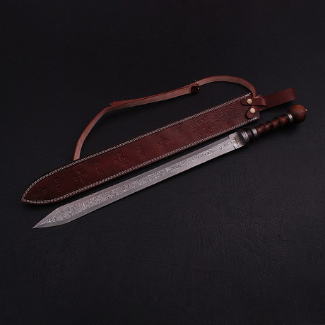 Damascus Roman Gladius Sword // 9244