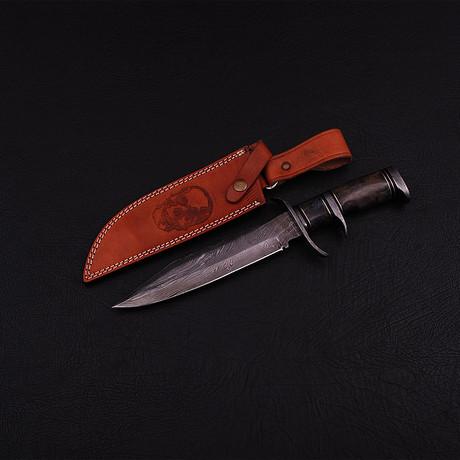 Damascus Subhilt Bowie Knife // BK0282