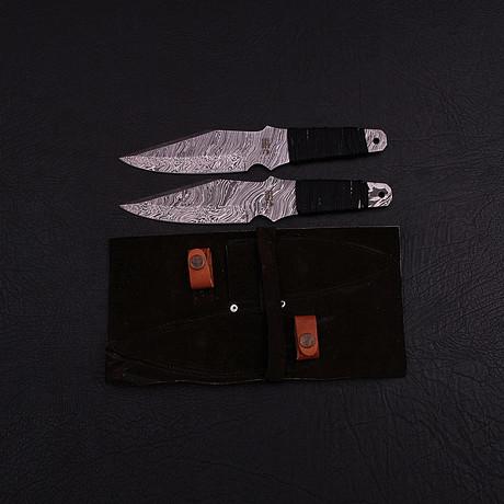 Damascus Throwing Knife Set // 2 Piece Set // HK0309